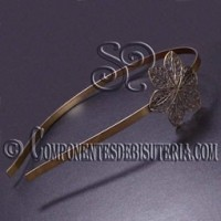 Diadema Bronce con Flor