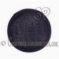 Base Sinamay para Tocados Negro 11cm