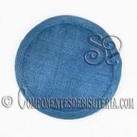 Base Sinamay para Tocados Azul 11cm