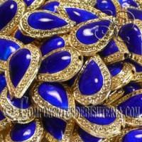 Cuenta Cloisonne Azul