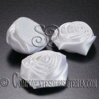 Flor de Raso Blanco 20mm