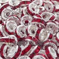 Rondel Cristal Montado Rojo