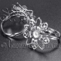 Base de Anillo Ajustable Flor