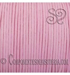 Cordon Algodon Encerado 1mm Rosa