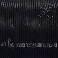 Cordon Algodon Encerado 1mm Negro