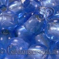 Cuenta de Cristal Artesanal Azul