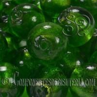 Cuenta de Cristal Artesanal Verde