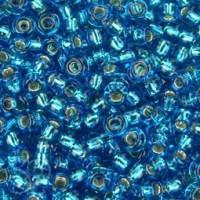 ROCALLA MIYUKI 11/0 SILVERLINED CAPRI BLUE