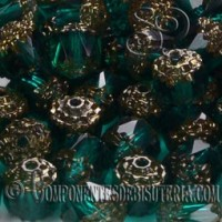 Cuenta Cristal Checo Verde Esmeralda
