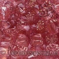 Cuentas Cristal Checo Rosa