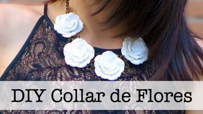 DIY Collar Joya con flores