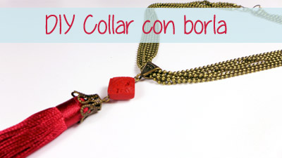 DIY Collar con borla