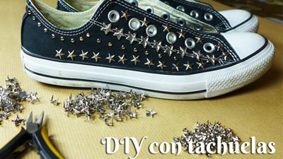 Como personalizar unas zapatillas con tachuelas