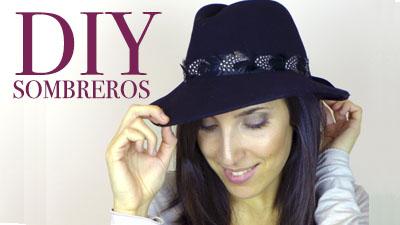 DIY Customiza un sombrero con plumas