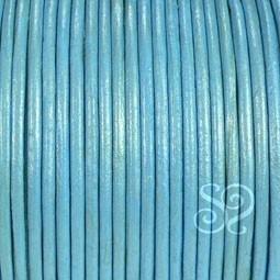 Cuero Hindu Azul Metalizado