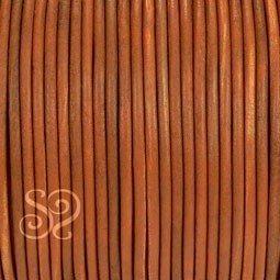 Cordon de Cuero Natural Marron 2mm