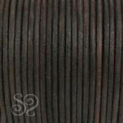 Cordón Cuero Natural Marrón Oscuro 4mm