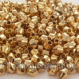 Tupi de Metal Dorado (50Uds)