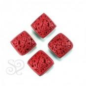 Rombo Cinnabar Rojo 15mm