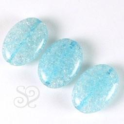 Cuenta de Cristal Craquelado Azul