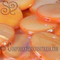 Disco de Nácar Naranja Irisado pack 10 uds