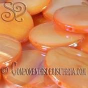 Disco de Nácar Naranja Irisado