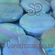 Disco de Nácar Azul Irisado