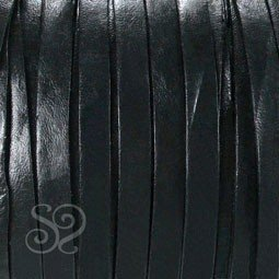 Cuero de Napa Plano Negro 4mm