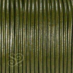 Cuero Hindu Verde Oscuro Metalizado