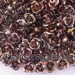 ROSAS METAL 6MM LACADO BRONCE x 25 UNIDADES