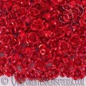 ROSAS METAL 6MM LACADO ROJO X 25 UNIDADES