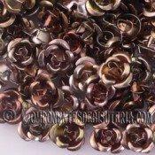ROSAS METAL 8MM LACADO BRONCE X 25 UNIDADES
