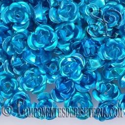 ROSAS METAL 8MM LACADO AZUL X 25 UNIDADES