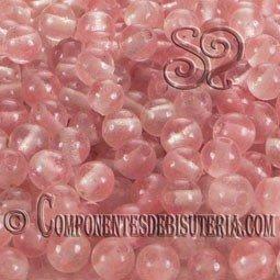 Bola Cuarzo Rosa 4mm (25uds)