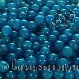 Agata Azul 4mm(25uds)