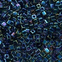 Cubos MIYUKI™ Azul Irisado Metalizado