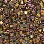 Cubos MIYUKI™Dorado Metalizado Iris