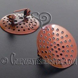 Broche con Regadera Cobre 25mm