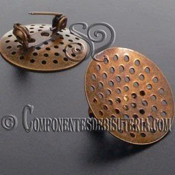 Broche con Regadera Bronce 25mm