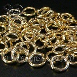 Pack de 5 Anillas Oro 14k