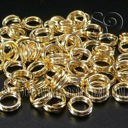 Pack de 5 Anillas Dobles Oro 14k