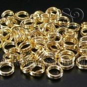 Pack de 5 Anillas Dobles Oro 14k