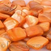 Cuenta Cuadrada de Nacar Naranja pack 20uds