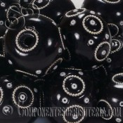 Rondel de Resina negro decorado de 24mm