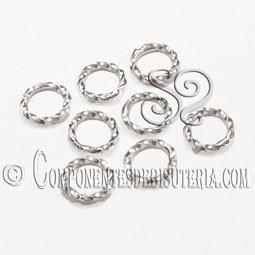 Anilla de Metal Trenzada Plata (20 uds)
