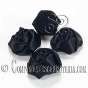 Flor de Raso Negro 20mm