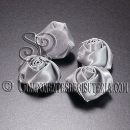 Flor de Raso Plata 20mm