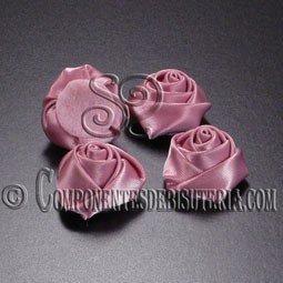 Flor de Raso Rosa 20mm