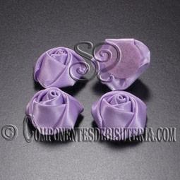 Flor de Raso Lila 20mm