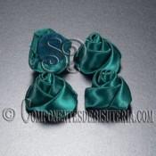 Flor de Raso Verde 20mm